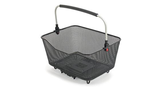 Hebie Hinterradkorb schwarz mit Quicksnap-Systemplatte
